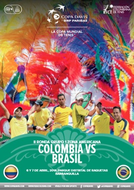 Revista Copa Davis - Colombia vs Brasil 2018